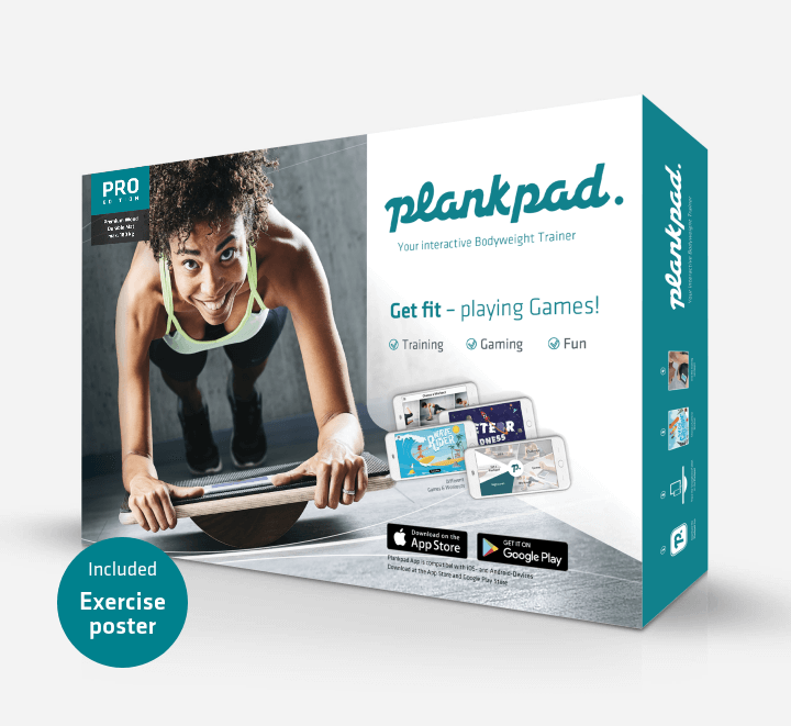 Plankpad Box inklusive Trainingsposter