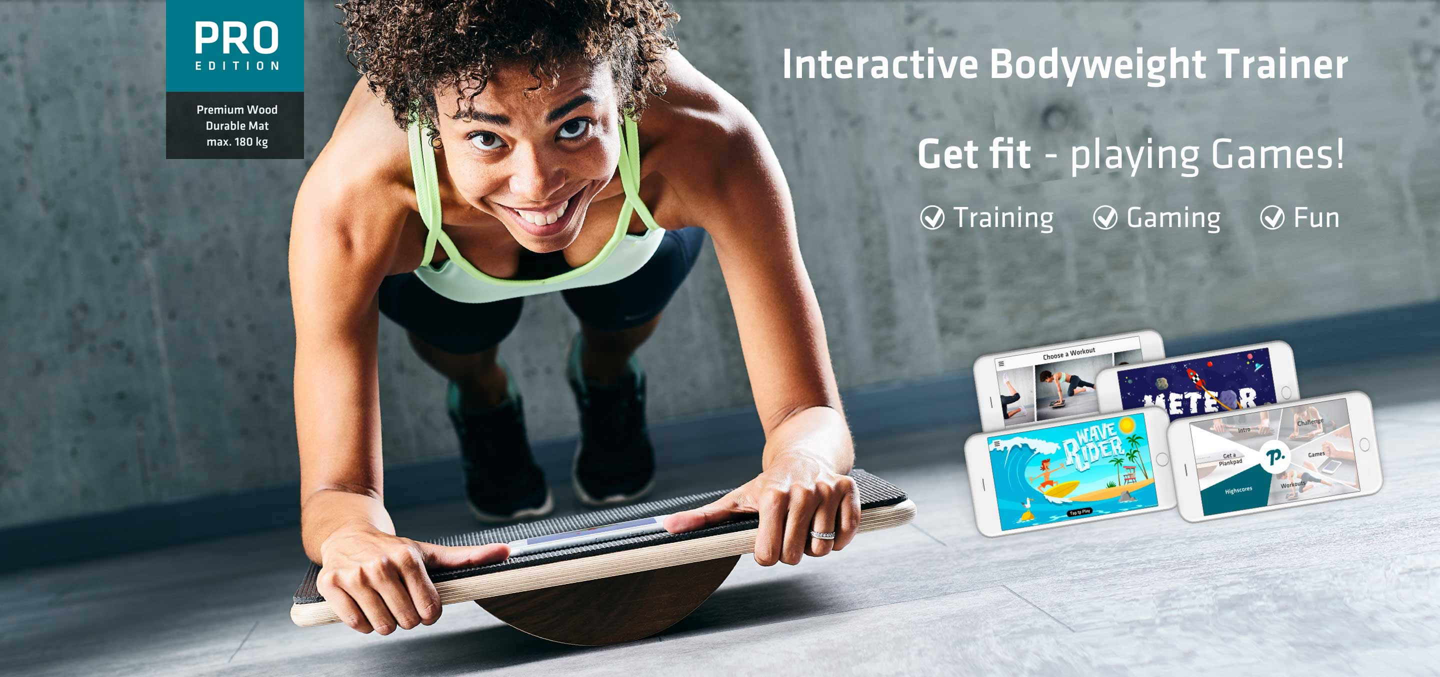 Plankpad - Interactive Bodyweight Trainer